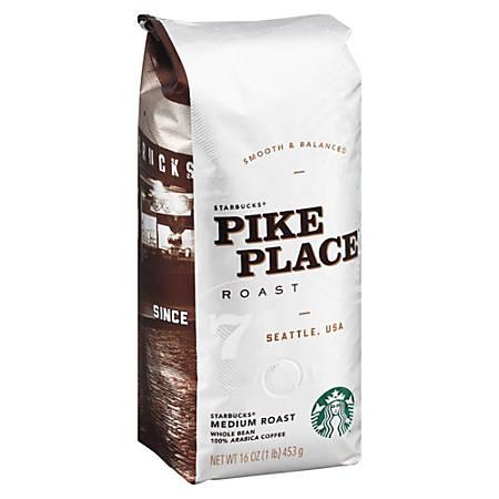 Starbucks Whole Bean Coffee, Pike Place, 16 Oz
