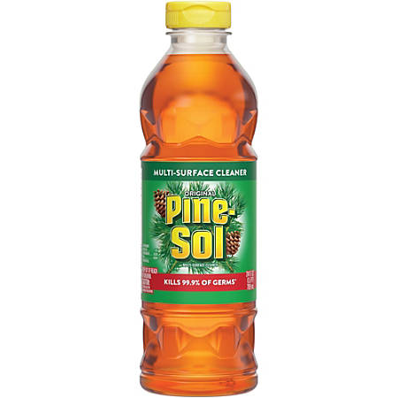 Pine-Sol Original Multi-Surface Cleaner - 0.19 gal (24 fl oz) - Original Scent - 12 / Carton - Amber