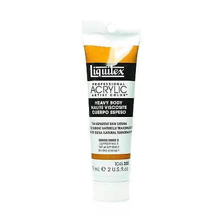Liquitex Heavy Body Professional Artist Acrylic Colors, 2 Oz, Transparent Raw Sienna, Pack Of 2