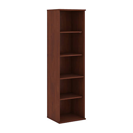 "Bush Business Furniture 5 Shelf Narrow Bookcase, 66""H, Hansen Cherry, Standard Delivery"