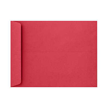 """LUX Open-End Envelopes With Moisture Closure, #6 3/4, 10"""" x 13"""", Holiday Red, Pack Of 50"""