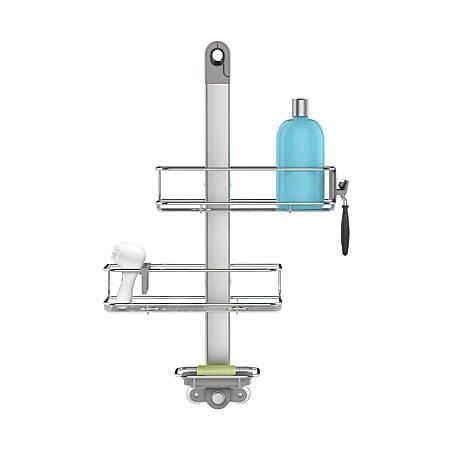 simplehuman® Adjustable Shower Caddy, Brushed Aluminum