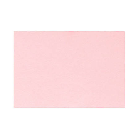 """LUX Flat Cards, A1, 3 1/2"""" x 4 7/8"""", Candy Pink, Pack Of 50"""