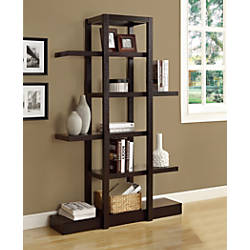 Monarch Specialties Etagere 5 Shelf Bookcase