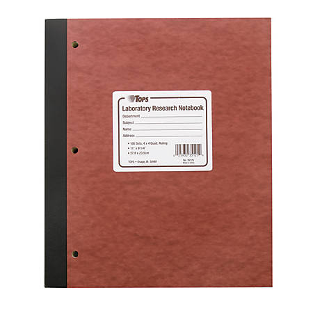 tops lab research notebook with carbon