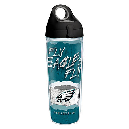 Tervis NFL Statement Water Bottle With Lid, 24 Oz, Philadelphia Eagles
