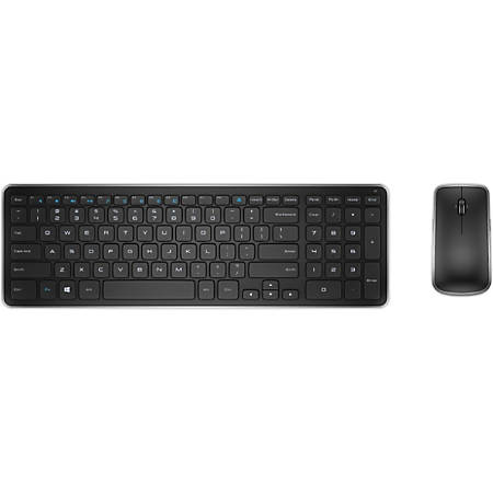 dell km714 wireless keyboard and mouse combo black office depot. Black Bedroom Furniture Sets. Home Design Ideas