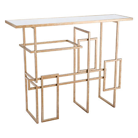 Zuo Modern Multiples Console Table, Rectangular, Mirror/Gold