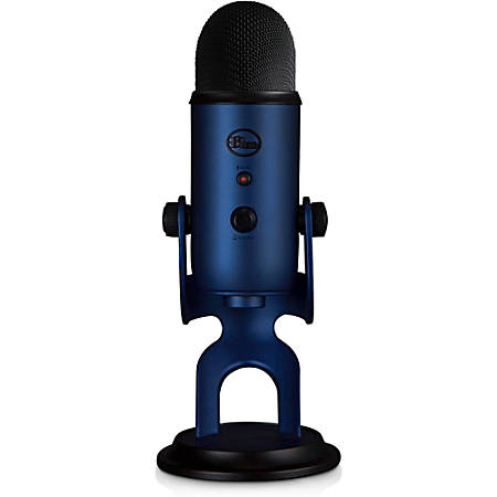Blue Yeti USB Microphone - Midnight Blue - Ultimate USB microphone - 3 condenser capsules - 4 recording patterns - 20Hz - 20kHz
