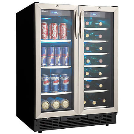 """Silhouette DBC2760BLS French Flair Beverage Center - 5ft³ - Stainless Steel - 34.42"""" x 23.82"""" x 24.82"""""""