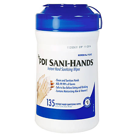 "Unimed Sani-Dex™ Alcohol Wipes, 6"" x 7 1/2"", Canister Of 135"