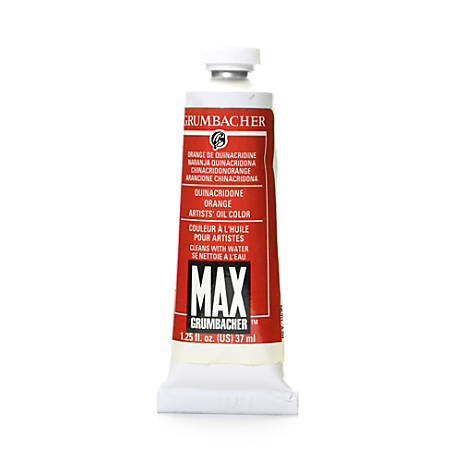 Grumbacher Max Water Miscible Oil Colors, 1.25 Oz, Quinacridone Orange