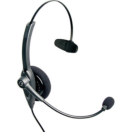 VXi Passport 10P DC Headset - Mono - Quick Disconnect - Wired - 300 Ohm - 200 Hz - 5 kHz - Over-the-head - Monaural - Semi-open - Noise Cancelling Microphone