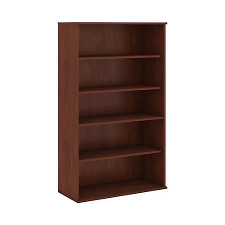 "Bush Business Furniture 5 Shelf Bookcase, 66""H, Hansen Cherry, Standard Delivery"