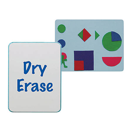 "Flipside Combination Flannel/Dry-Erase Bulletin Board, 24"" x 36"", Blue/White"