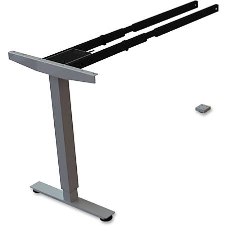 """Lorell Sit/Stand Desk Silver Third-leg Add-on Kit - 275 lb Weight Capacity x 24"""" Width x 44"""" Depth x 26.5"""" Height - Silver"""