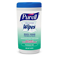 PURELL Hand Sanitizing Wipes Fragrance Free