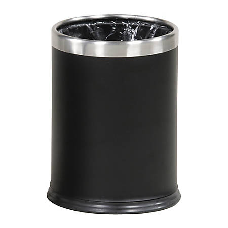 """United Receptacle WHB14E 30% Recycled Hide-A-Bag Wastebasket, 12 1/2""""H x 9 1/2""""W x 12""""D, 3.5-Gallon Capacity, Black"""