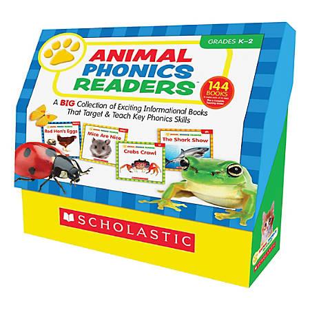 Scholastic Res. Grade K-2 Animal Phonics Reader Book Set Printed Book by Liza Charlesworth - Book - English