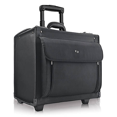 """Solo Classic Rolling Catalog Case For 17.3"""" Laptops, Black"""