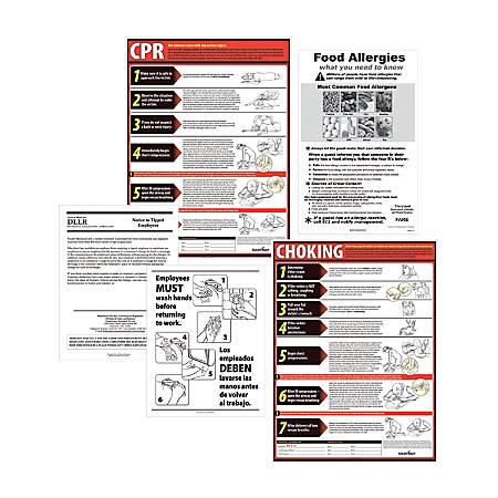 ComplyRight State Restaurant Poster Kit, English, Minnesota