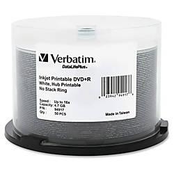 Verbatim DVDR 47GB 16X DataLifePlus White