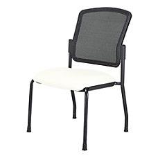 WorkPro Spectrum Armless Guest Chair WhiteBlack