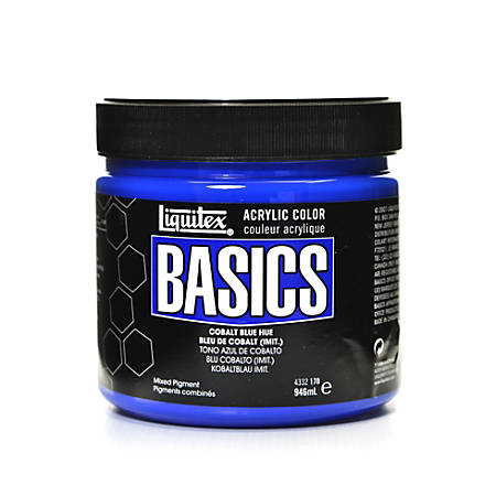 Liquitex Basics Acrylic Paint, 32 Oz Jar, Cobalt Blue Hue