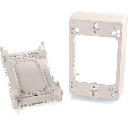 C2G Wiremold Uniduct Single Gang Deep Junction Box - Fog White