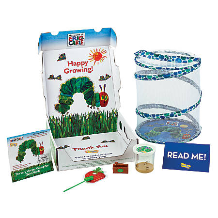 Insect Lore The Very Hungry Caterpillar Growing Kit With Live Caterpillars, Blue