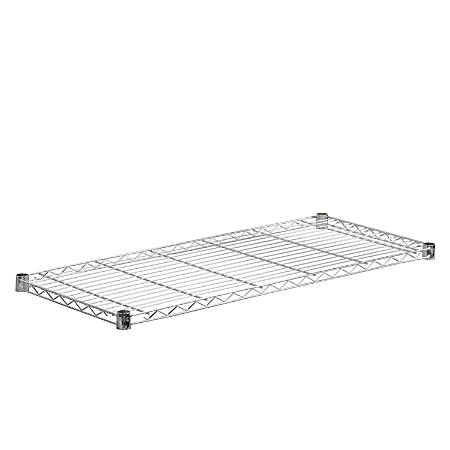 """Honey-Can-Do Plated Steel Shelf, Supports 350 Lb, 1""""H x 16""""W x 36""""D, Chrome"""