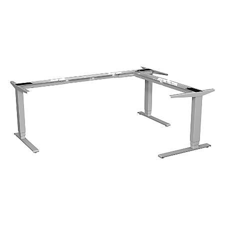 Lorell™ Quadro Workstation Sit-to-Stand 3-Leg Base, Silver
