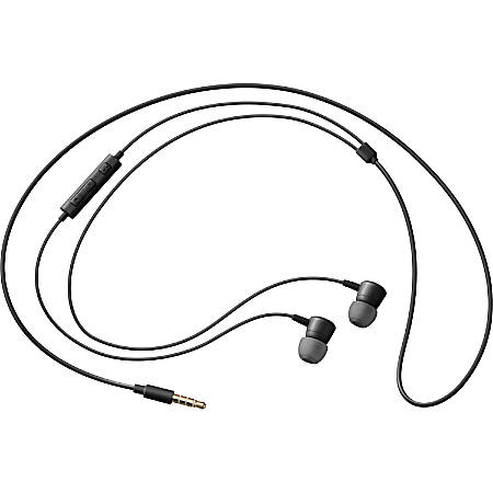 Samsung HS130 Wired Headset w/ Inline Mic, Black