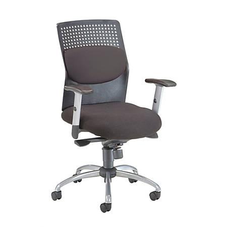 "OFM AirFlo Series Fabric Chair, 42""H x 26""W x 27""D, Black/Silver Frame, Black Fabric"