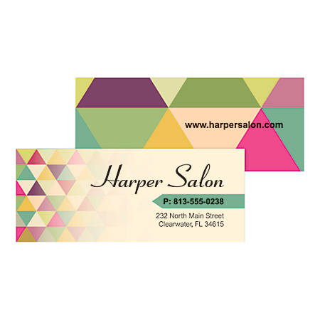 Mini business cards 2 34 x 1 18 box of 100 by office depot officemax mini business cards 2 34 x reheart Gallery