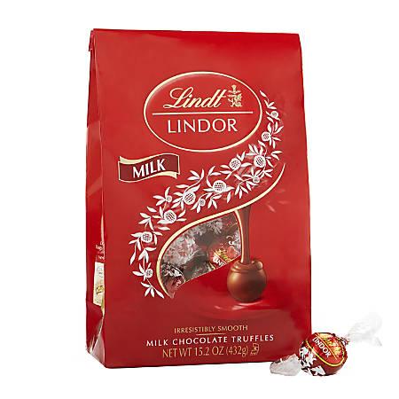 Lindor Chocolate Truffles, Milk Chocolate, 15.2 Oz Box