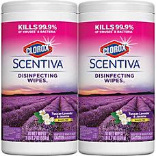 Clorox Scentiva Disinfecting Wipes Tuscan LavenderJasmine