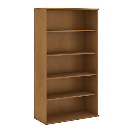 "Bush Business Furniture 5 Shelf Bookcase, 72""H, Natural Cherry, Premium Installation"
