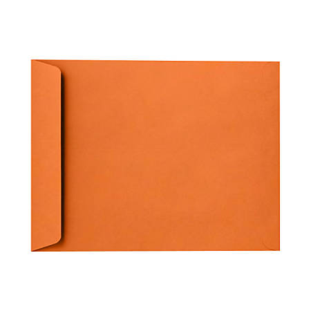 "LUX Open-End Envelopes With Peel & Press Closure, 10"" x 13"", Mandarin Orange, Pack Of 500"