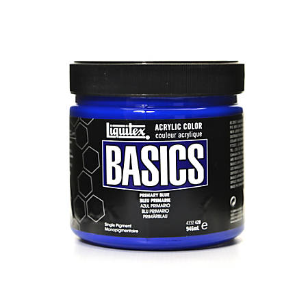 Liquitex Basics Acrylic Paint, 32 Oz Jar, Primary Blue