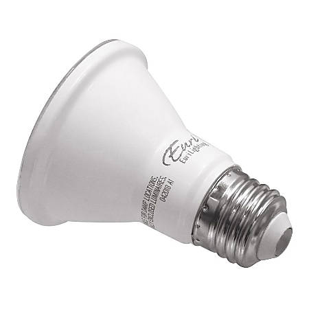 Euri Reflector Dimmable LED Bulbs, PAR20, 8.5 Watts, 3000 Kelvin/Warm White, 550 Lumens, Pack Of 6 Light Bulbs