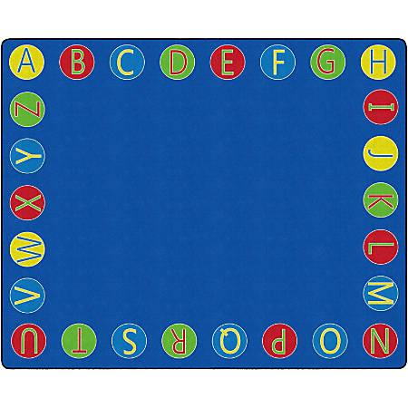 "Flagship Carpets Alphabet Circles Rug, 10' 9"" x 13' 2"", Multicolor"