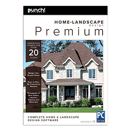 Punch!® Home And Landscape Design Premium v18, Traditional Disc