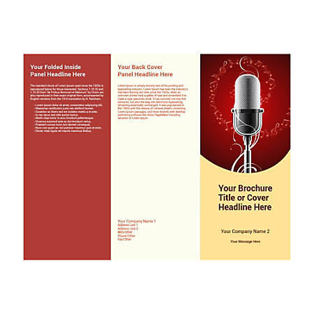 Customizable Trifold Brochure, Microphone
