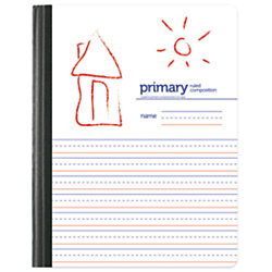 """Office Depot® Primary Composition Book, 7 1/2"""" x 9 3/4"""", Unruled/Primary Ruled, 200 Pages (100 Sheets), White"""