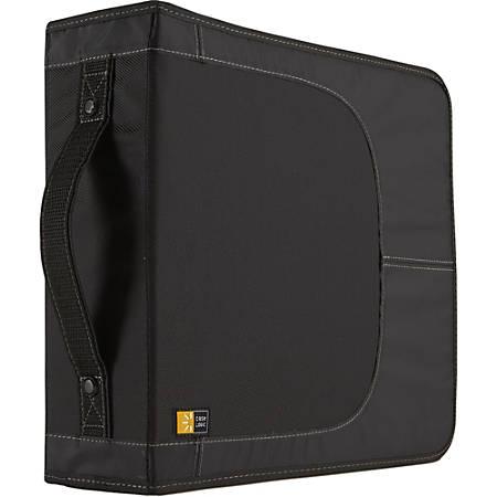 Case Logic CD Wallet - Book Fold - Nylon - Black - 208 CD/DVD