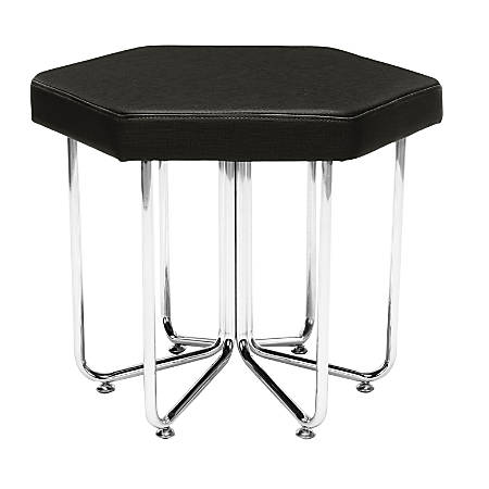 OFM Hex Series Stool, Black/Chrome