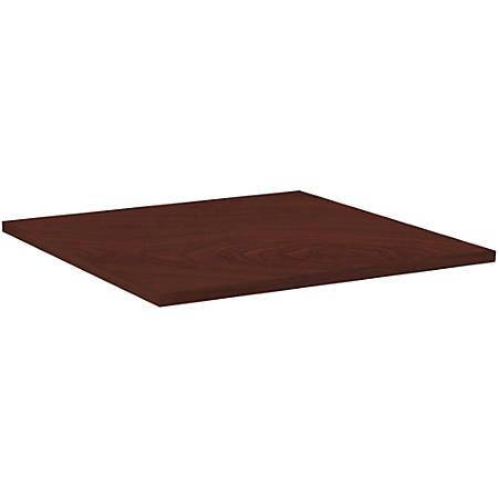 """Lorell® Hospitality Square Table Top, 36""""W, Mahogany"""