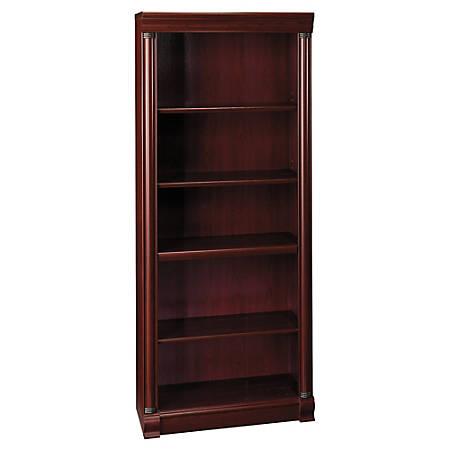 Bush Furniture Birmingham 5 Shelf Bookcase, Harvest Cherry, Standard Delivery