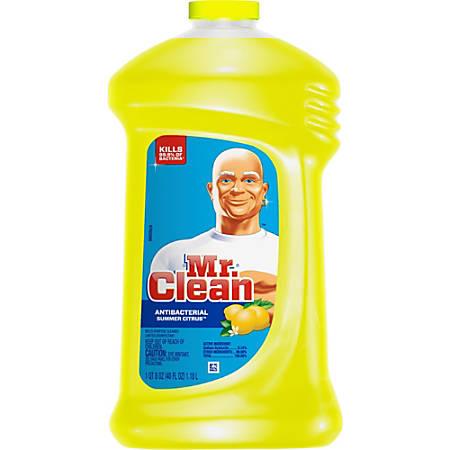 Mr. Clean Antibacterial Cleaner - Liquid - 0.31 gal (40 fl oz) - Summer Citrus ScentBottle - 9 / Carton - Yellow